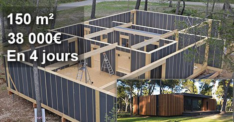 une maison de 150 m pour moins de 38 000 et construite. Black Bedroom Furniture Sets. Home Design Ideas