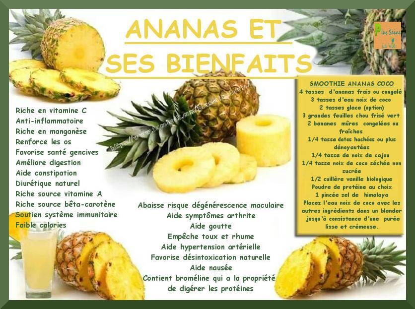 Les bienfaits de l ananas for Regime ananas